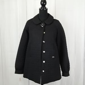 Betsy Johnson  sz xs  black quilted puffer jacket